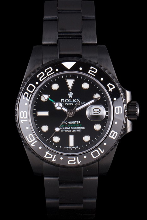Faussemontrerolex-Rolex-GMT-Master-II-Full-PVD-Pro-Hunter-Edition