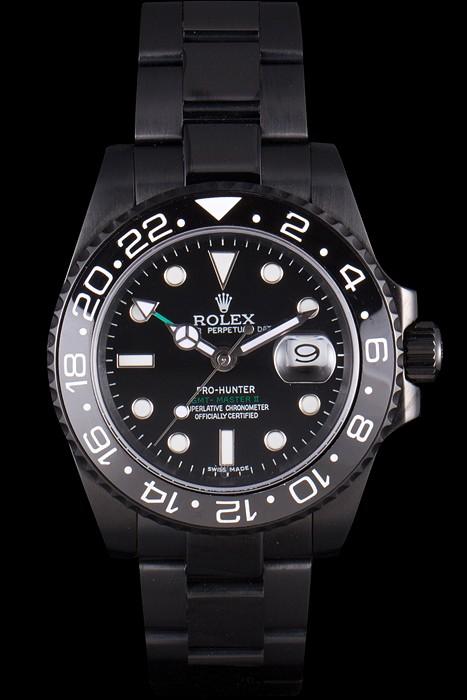 Faussemontrerolex-Rolex-GMT-Master-II-Full-PVD-Pro-Hunter-Edition