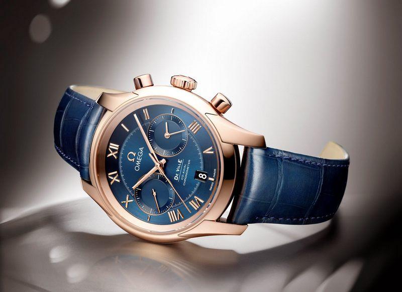 omega de ville chronograph co-axial calibre 9300/9301 copie montre