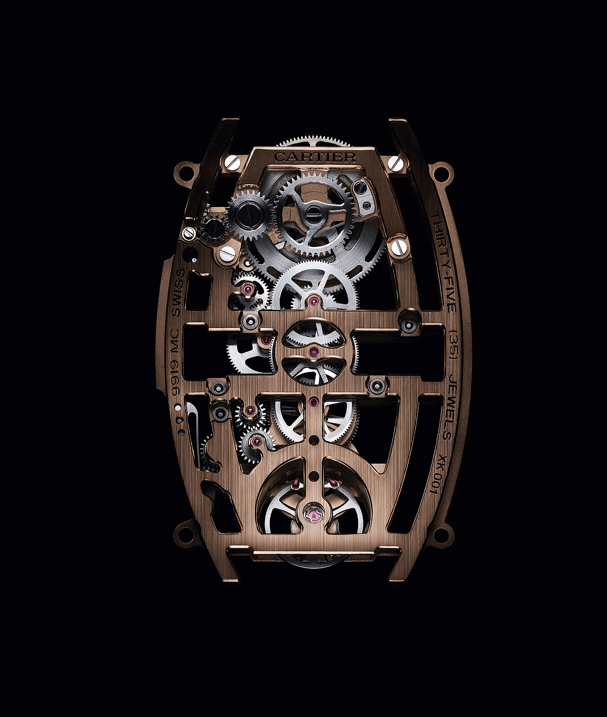 Cartier Privé Skeleton Dual Time Zone En Or Rose
