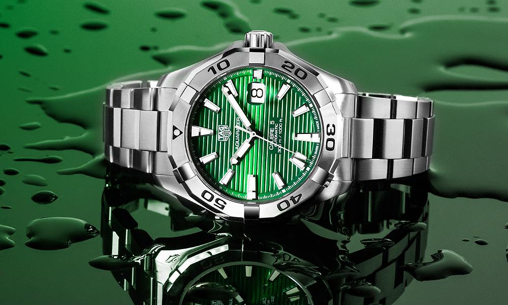 TAG Heuer Aquaracer Hommes Cadran Vert