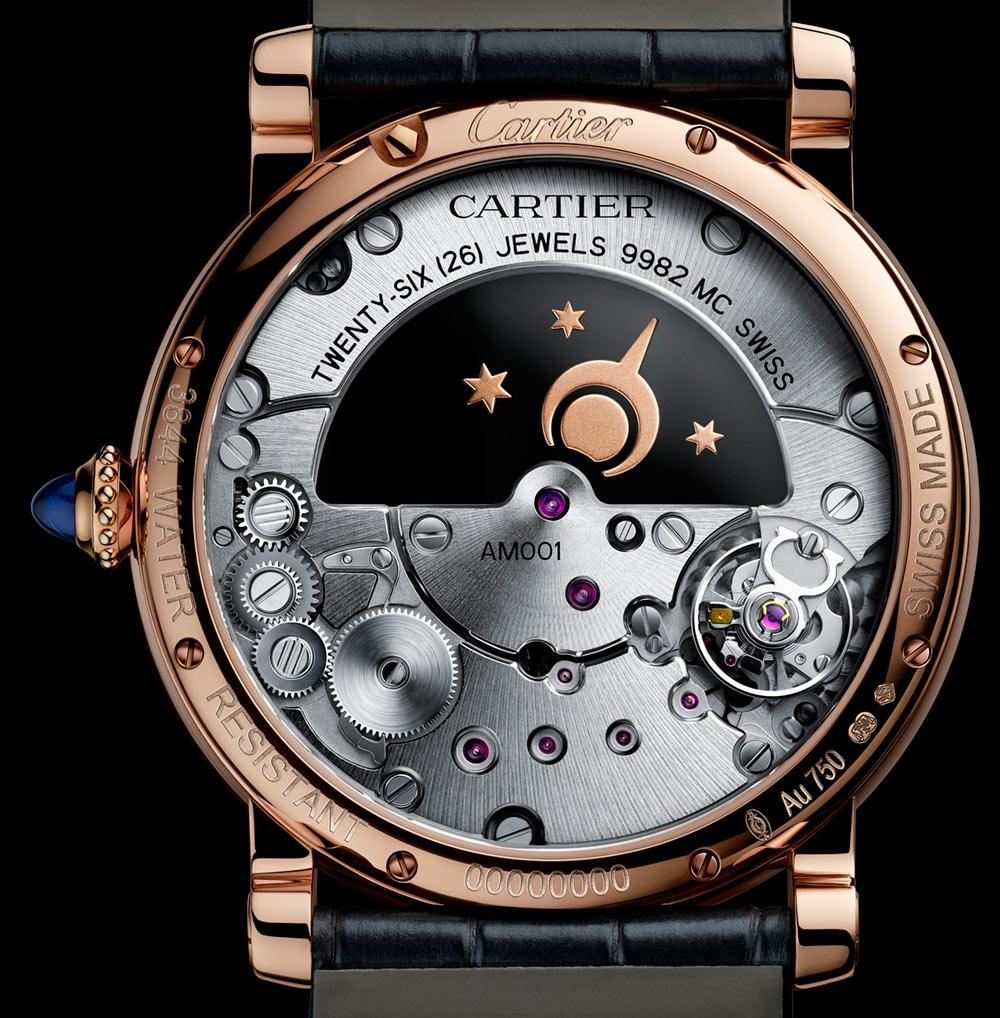 Fausse Montre Cartier Rotonde de Cartier Skeleton Mysterious Double Tourbillon Day Night