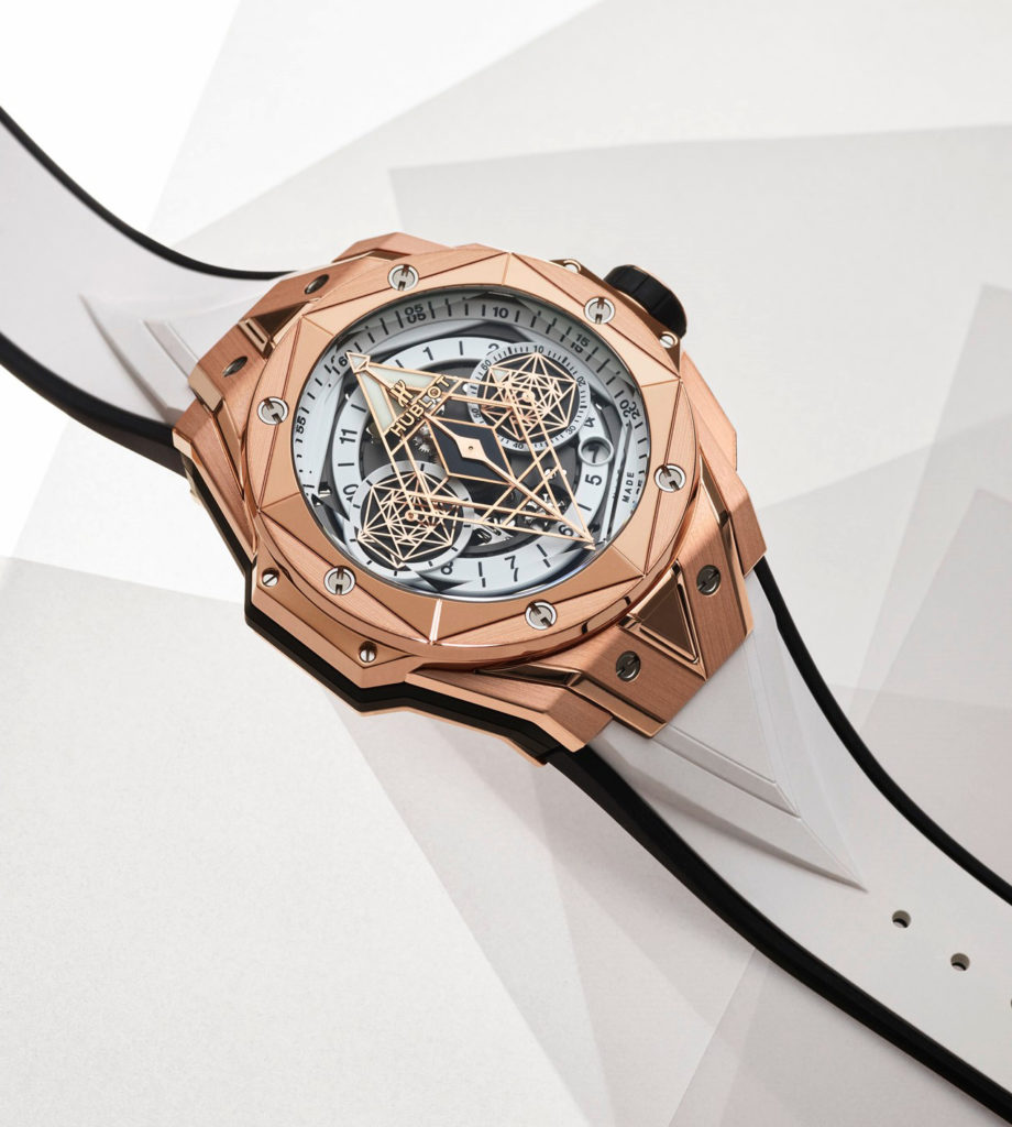 Replique Hublot Big Bang Sang Bleu II King Gold